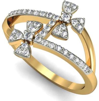 Rasav Jewels 18kt Diamond Yellow Gold ring at flipkart