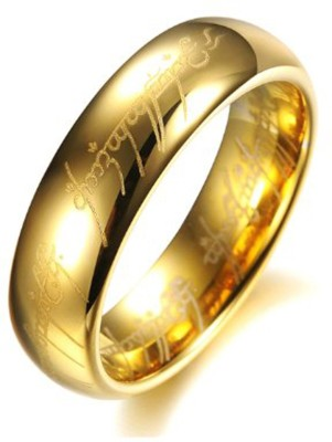 Yellow Chimes LOTR Stainless Steel Rhodium Plated Ring at flipkart