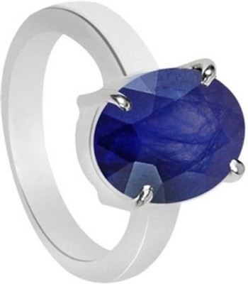 SMS Retail 5.25 Ratti Stone Sapphire Gold Plated Ring at flipkart