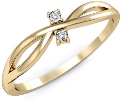 Kataria Jewellers The Halette BIS Hallmarked Gold 14kt Diamond Yellow Gold ring