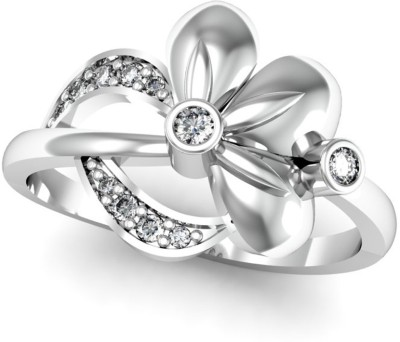 JewelHub 18K Hallmarked Certified Diamond 18kt Yellow Gold ring at flipkart