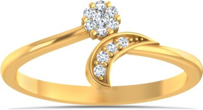 Kaizer Jewelry Valentine Heart Tocuhing Collection Alloy Cubic Zirconia 18K Yellow Gold Plated Ring at flipkart
