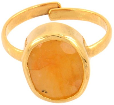 SMS Retail 9.25 Ratti Stone Sapphire Copper Plated Ring at flipkart