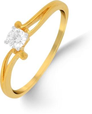 P.N.Gadgil Jewellers 18kt Diamond Yellow Gold ring(Yellow Gold Plated) at flipkart