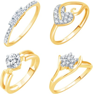 Sukkhi Alloy 18K Yellow Gold Plated Ring Set at flipkart