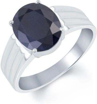 Kundali Neelam Stone Weight- 6.0 Carat / 7.06 Ratti Silver Sapphire Ring at flipkart