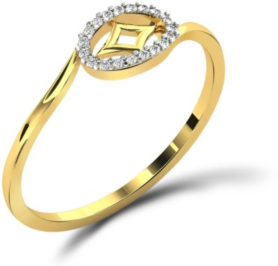 Fullcutdiamond FCDR7843R 18kt Diamond Yellow Gold ring(Yellow Gold Plated) at flipkart
