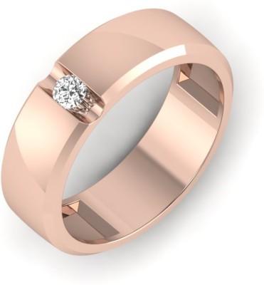 Zevrr Sterling Silver Swarovski Zirconia Platinum Plated Ring at flipkart