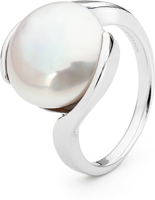SMS Retail 8.25 Ratti Stone Pearl Copper Plated Ring at flipkart