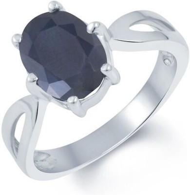 Kundali Neelam Stone Weight- 4.2 Carat / 4.94 Ratti Silver Sapphire Ring at flipkart
