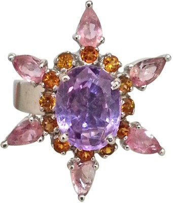 Surat Diamond Sterling Silver Amethyst, Citrine, Tourmaline Ring at flipkart