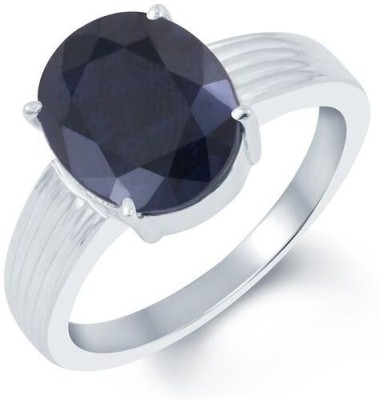 Kundali Neelam Stone Weight- 5.8 Carat / 6.82 Ratti Silver Sapphire Ring at flipkart