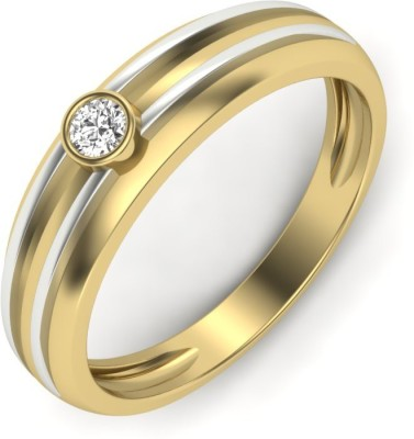 Vaibhav Ring Sterling Silver Diamond 18K Yellow Gold Plated Ring