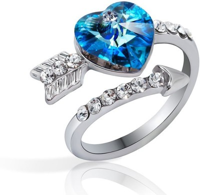 RM Jewellers 92.5 Special Silver Cubic Zirconia, Crystal Ring at flipkart