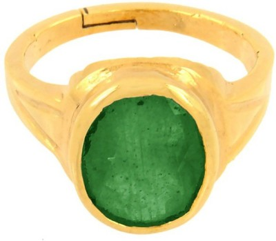 SMS Retail 7.25Ratti Stone Emerald Rose Gold Plated Ring at flipkart