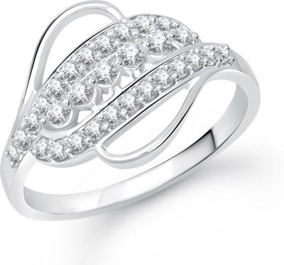 VK Jewels Impressive Alloy Cubic Zirconia Rhodium Plated Ring at flipkart