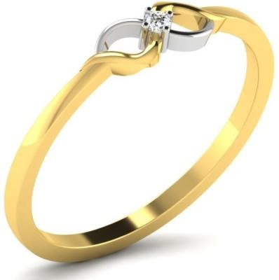 Fullcutdiamond FCDR50015R 18kt Diamond Yellow Gold ring(Yellow Gold Plated) at flipkart