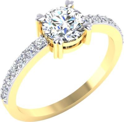 Samaira Gem and Jewelery PSR001 14kt Swarovski Crystal Yellow Gold ring Samaira Gem and Jewelery Rings