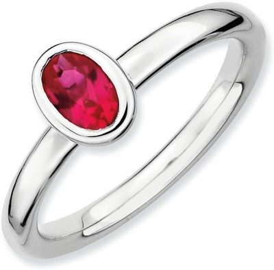 Jaipur Gemstone Silver Ruby Ring at flipkart
