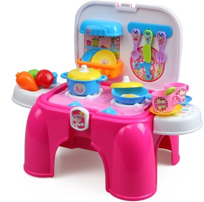 Beauty Kitchen Set With Lights And Sounds For Girls