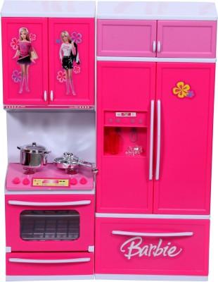Fabelhaft barbie kitchen set available at flipkart for for Barbie kitchen set 90s