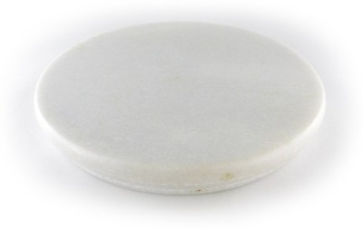 Chave Round White Marble Rolling Panel , Chakla , Roti Maker , Cheese Pastry Cake Cutting Plank 8.7 inch Diameter - Heavy Marble Kitchen Accessories Board(White, Pack of 1)  available at flipkart for Rs.275