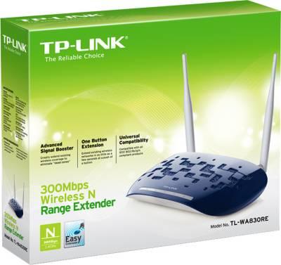 TP-LINK TL-WA830RE 300 Mbps Wireless Range Extender (White & Blue)