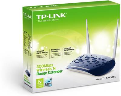 TP-LINK TL-WA830RE 300 Mbps Wireless Range Extender (White & Blue)