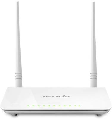 Tenda D301 ADSL2+ 300 Mbps Wireless without Modem Router (White)