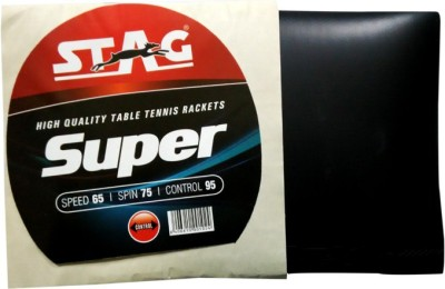 Stag Super 1.8 mm Table Tennis Rubber(Black)