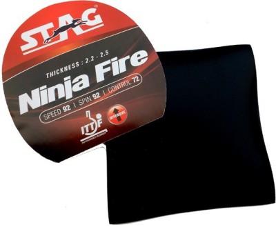 Stag Ninja Fire 1.8 mm Table Tennis Rubber(Black)