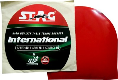 Stag International 1.8 mm Table Tennis Rubber(Red)