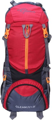 1169cb4edf 57% OFF on Gleam 0109 Climate Proof Mountain   Hiking   Trekking   Campaign  Bag   Backpack 75 ltrs Red   Grey with Rain Cover Rucksack - 75  L(Multicolor) on ...