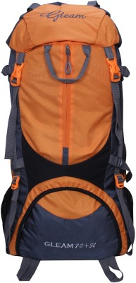 7f7e0e6024 62% OFF on Gleam 0109 Climate Proof Mountain   Hiking   Trekking   Campaign  Bag   Backpack 75 ltrs Orange   Grey with Rain Cover Rucksack - 75 L(Multicolor)  ...