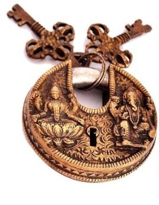 Indigo Creatives Vastu Antique Gold Look Goddess Lakshmi + Lord Ganesha Safety Lock Safety Lock(Gold)  available at flipkart for Rs.847