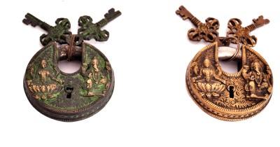 Indigo Creatives Vastu Antique look Lord Ganesha + Goddess Lakshmi set of 2 Safety Lock Safety Lock(Black)  available at flipkart for Rs.1497