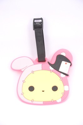 Shrisay Ventures Pink Bunny Pack Of 2 Luggage Tag(Multicolor)