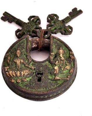 Indigo Creatives Diwali Vastu Antique Look Goddess Lakshmi + Lord Ganesha Safety Lock Safety Lock(Black)  available at flipkart for Rs.847