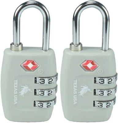 Texas USA TSA Lock-Mandatory for US Customs - Grey Set of 2 Safety Lock(Grey)