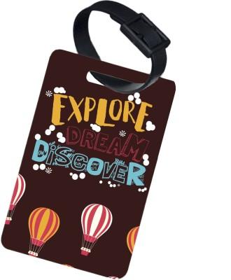 The Crazy Me EXPLORE DREAM DISCOVER Luggage Tag Multicolor