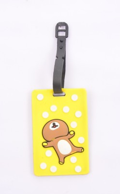 Shrisay Ventures Happy Teddy - Yellow Pack Of 2 Luggage Tag(Multicolor)
