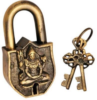 Gathbandhan Lord Shiva Safety Lock(Gold)