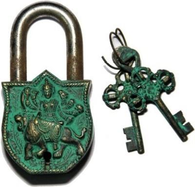 Gathbandhan Godess Durga Safety Lock(Gold, Green)