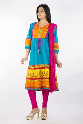 Rama Self Design Kurta, Churidar & Dupatta Set at flipkart