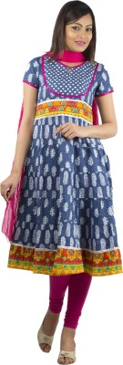 Rama Indi Printed, Embroidered Kurta, Churidar & Dupatta Set at flipkart