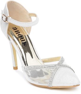 Anouk Women White Heels at flipkart
