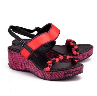 Naughty Walk Girls Wedges(Pink)