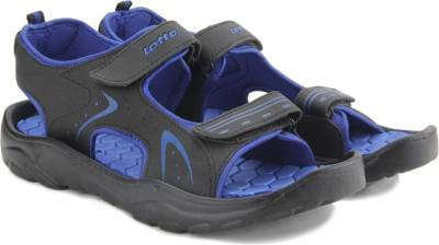 Lotto Men Black/Blue Sports Sandals