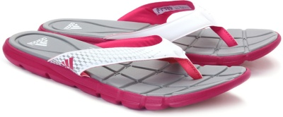 21e390fd39d4 Adidas f32910 Women White And Grey Adipure 360 Flip Flops- Price in India