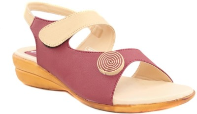 Dolphin Miles Women Maroon Wedges Dolphin Miles Wedges
